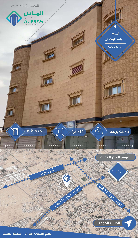 عمارة للبيع في حي الرحاب ، بريدة ، بريدة