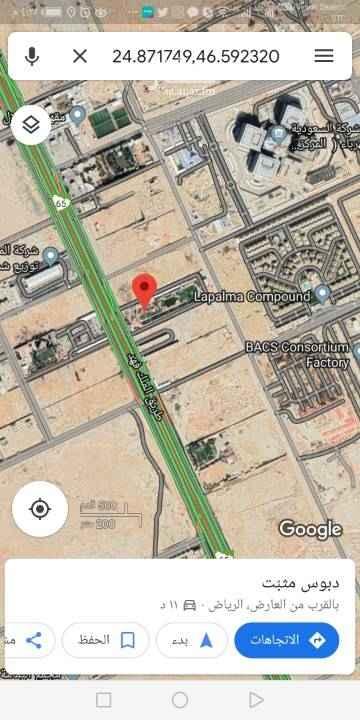 أرض للبيع في طريق الملك فهد الفرعي ، الرياض
