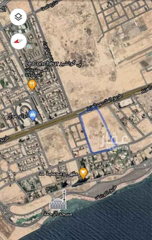 أرض للبيع في طريق الملك عبدالعزيز ، حي الشاطئ ، جدة ، جدة