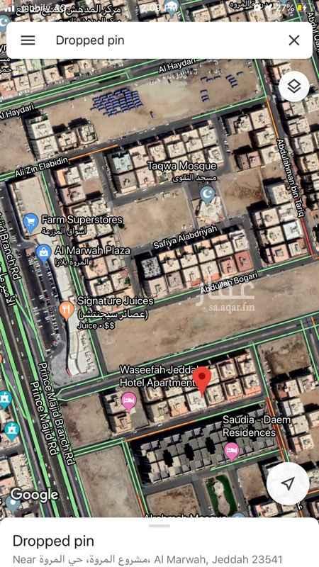 شقة للإيجار في شارع محمد بن بركات ، حي المروة ، جدة ، جدة