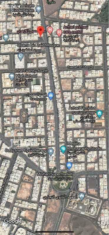 أرض للبيع في شارع خديج بن سلامه ، حي بئر عثمان ، المدينة المنورة ، المدينة المنورة