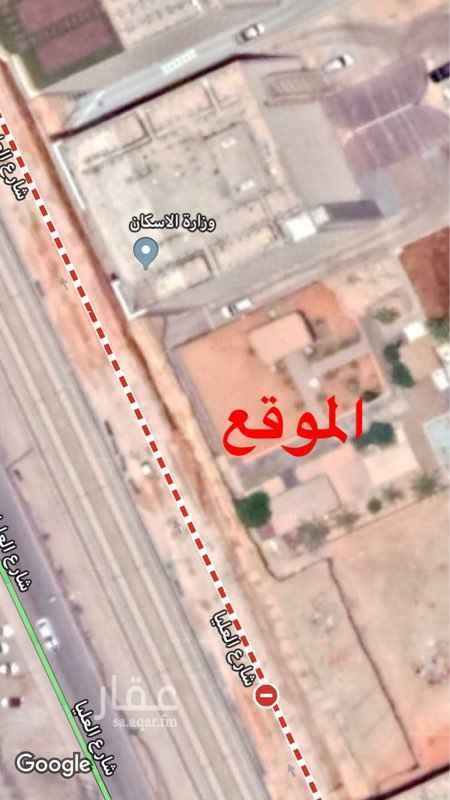 أرض للإيجار في شارع العليا ، حي الصحافة ، الرياض