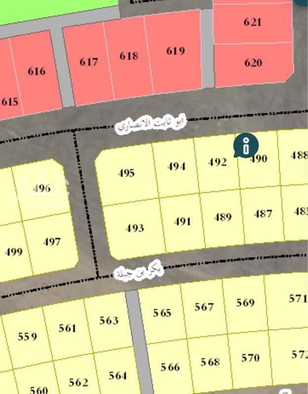 أرض للبيع في شارع ابو قيس بن الحارث ، حي المرجان ، الخبر ، الخبر