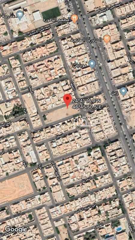 أرض للبيع في شارع فهد بن بلال ، حي الربوة ، الرياض