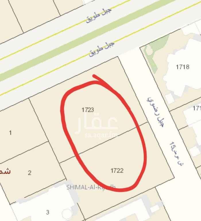 أرض للبيع في شارع جبل رضوي ، حي الصحافة ، الرياض