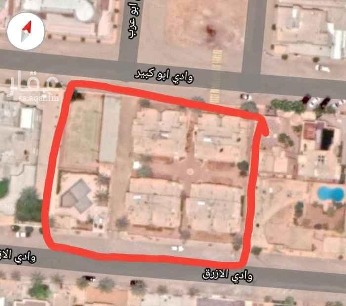 أرض للبيع في شارع وادي الازرق ، حي الهدا ، الرياض