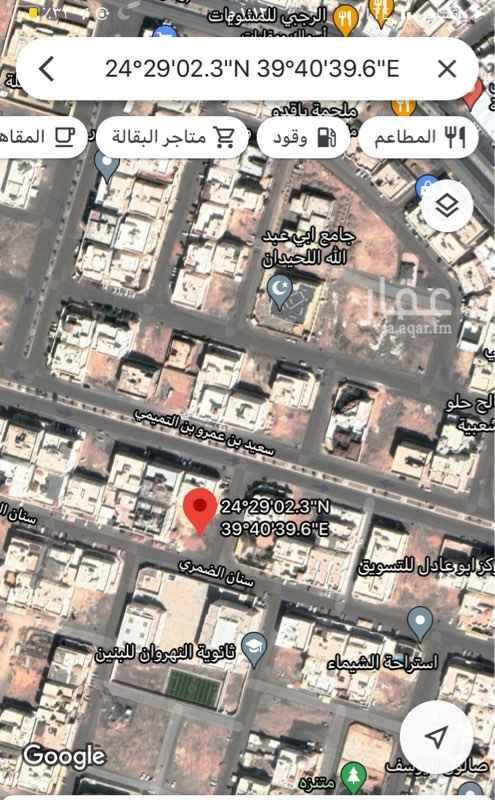 أرض للبيع في شارع سنان الضمري ، حي المبعوث ، المدينة المنورة ، المدينة المنورة