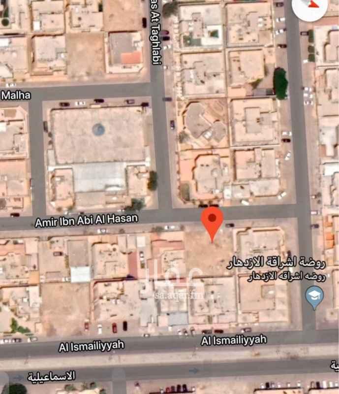 أرض للبيع في شارع عامر بن ابي الحسن ، حي الازدهار ، الرياض ، الرياض