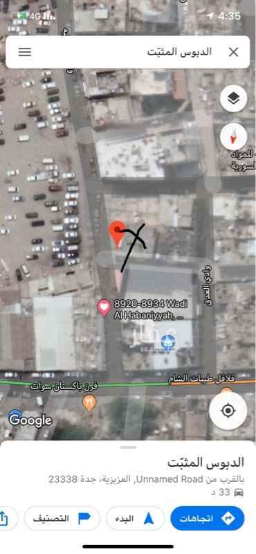 بيت للبيع في شارع وادي الحبانيه ، حي العزيزية ، جدة ، جدة