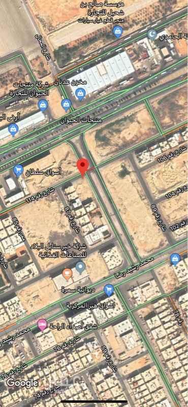 أرض للبيع في شارع ثلاب بن حمد ، حي العزيزية ، الرياض