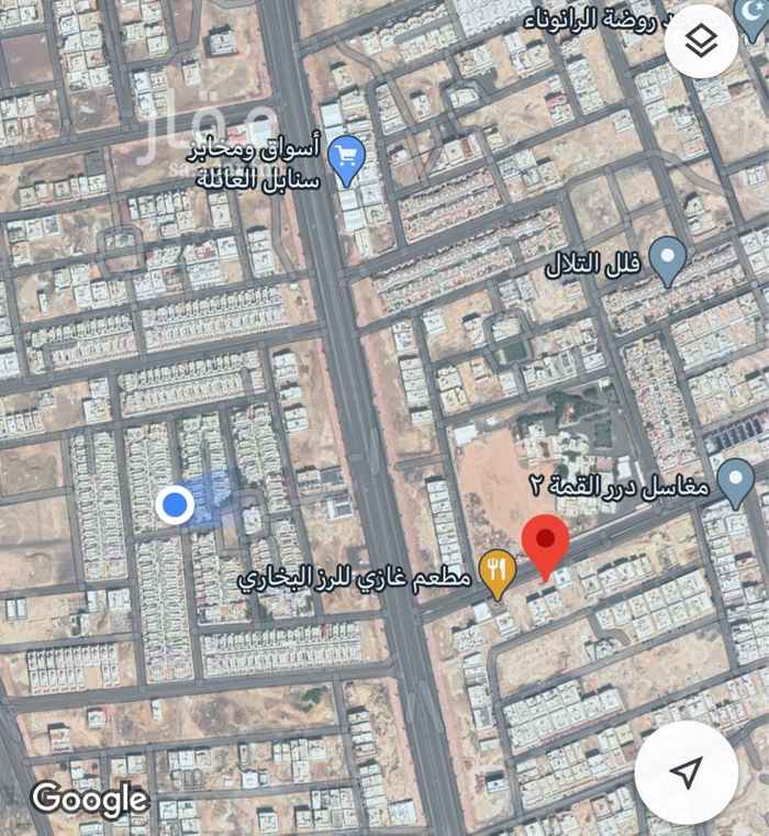 أرض للإيجار في شارع بسبس بن عمرو ، حي الرانوناء ، المدينة المنورة ، المدينة المنورة