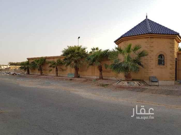 استراحة للبيع في شارع البساتين ، حي الرمال ، الرياض
