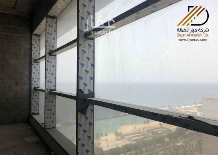 مكتب تجاري للإيجار في طريق الكورنيش ، حي الشاطئ ، جدة ، جدة