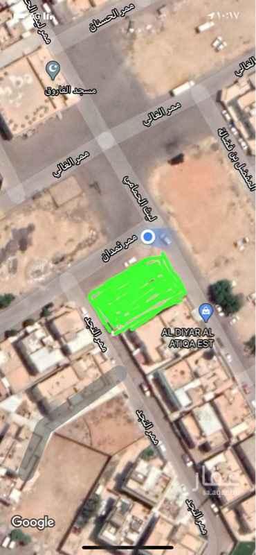 أرض للبيع في شارع ثمدان ، حي العزيزية ، الرياض ، الرياض