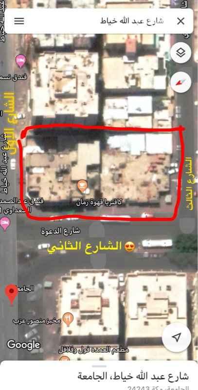 أرض للإيجار في شارع الشيخ عبدالله خياط ، حي الجامعة ، مكة ، مكة المكرمة