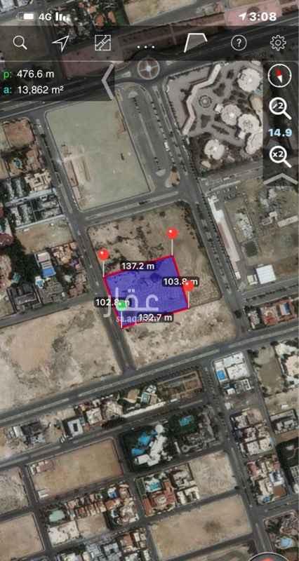 أرض للبيع في شارع أبي محمد المدني ، حي الشاطئ ، جدة ، جدة
