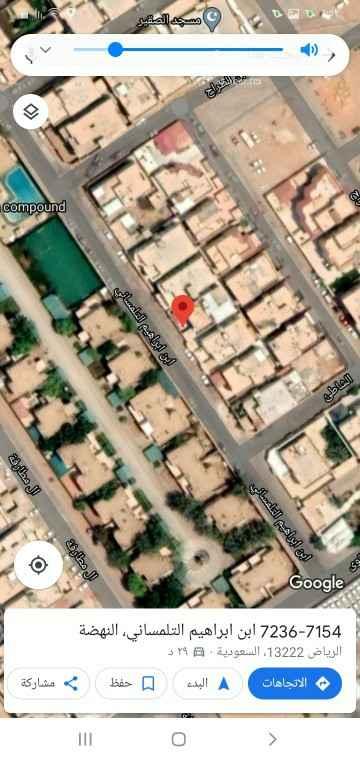 أرض للبيع في شارع ابن ابراهيم التلمساني ، حي النهضة ، الرياض ، الرياض