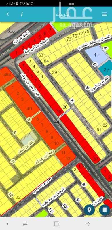 أرض للبيع في شارع عبدالرحمن بن عوف ، حي طيبة ، الدمام