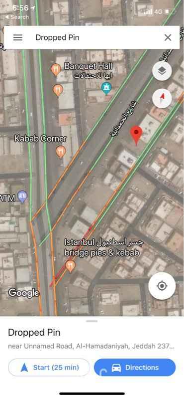 أرض للإيجار في حي الحمدانية ، جدة