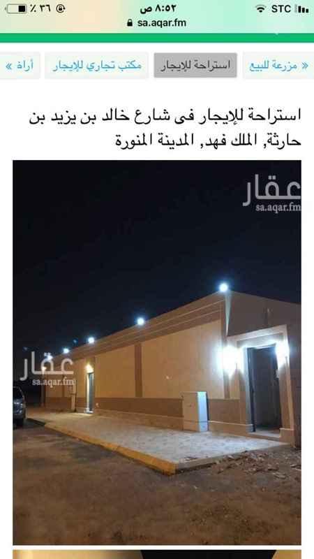 استراحة للإيجار في شارع خبيب بن عبدالله بن الزبير ، حي الملك فهد ، المدينة المنورة ، المدينة المنورة