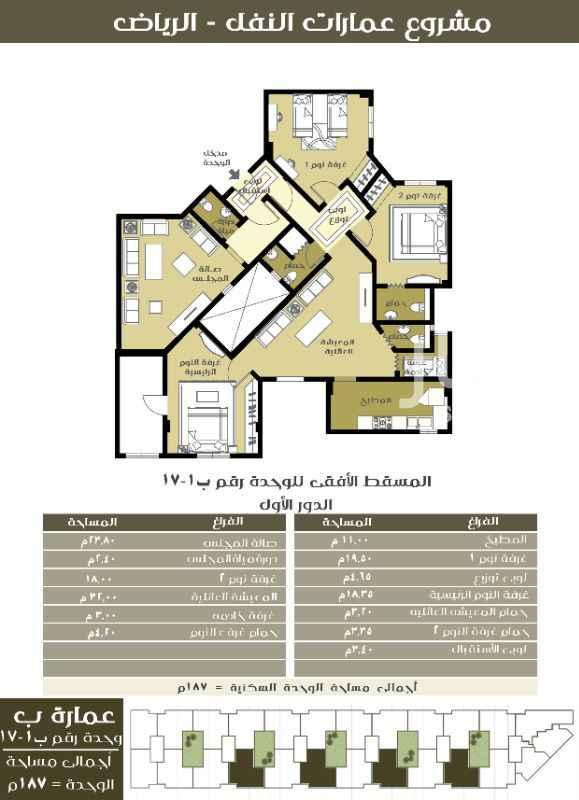 شقة للإيجار في شارع الريان ، حي النفل ، الرياض ، الرياض