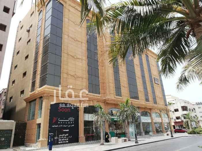مكتب تجاري للإيجار في شارع فلسطين ، حي الحمراء ، جدة