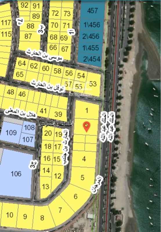 أرض للبيع في شارع هلال بن المعلا ، حي الشاطئ الشرقي ، الدمام
