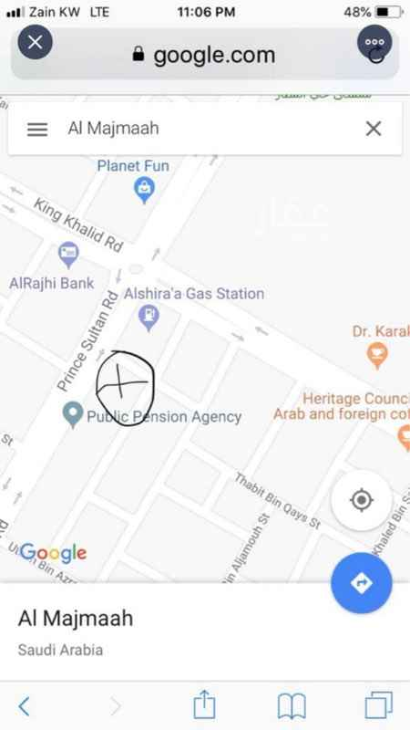 أرض للبيع في طريق الأمير سلطان ، حي الجامعيين ، المجمعة ، المجمعة
