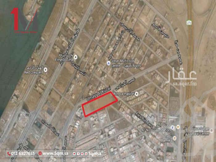 أرض للبيع في شارع عمير الخزاعي ، حي ابحر الجنوبية ، جدة