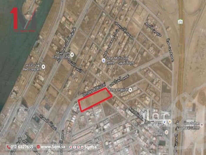 أرض للبيع في شارع مالك بن انس ، حي ابحر الجنوبية ، جدة