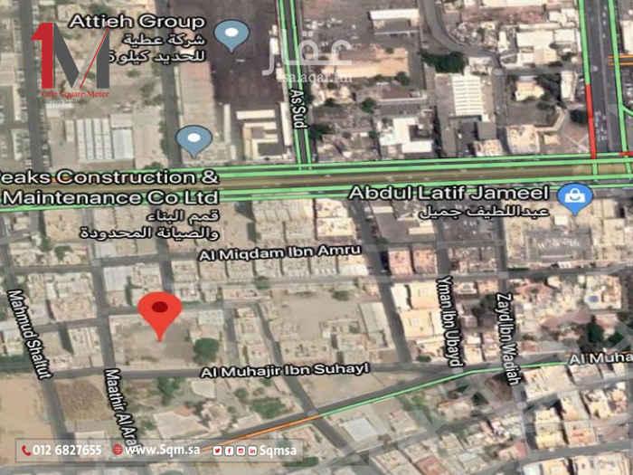 أرض للبيع في شارع نافع بن الحارث ، حي مدائن الفهد ، جدة ، جدة