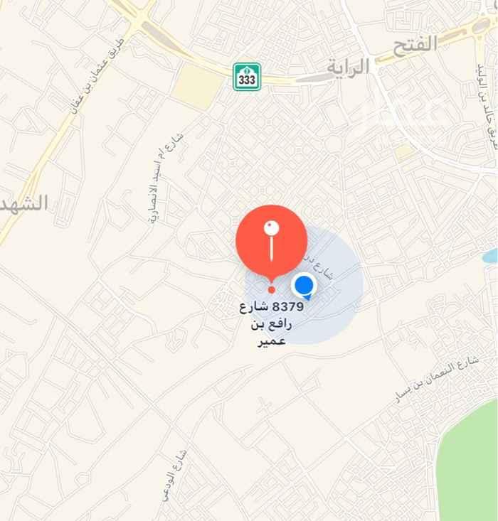 أرض للبيع في شارع زيد بن الازور ، حي بئر عثمان ، المدينة المنورة ، المدينة المنورة