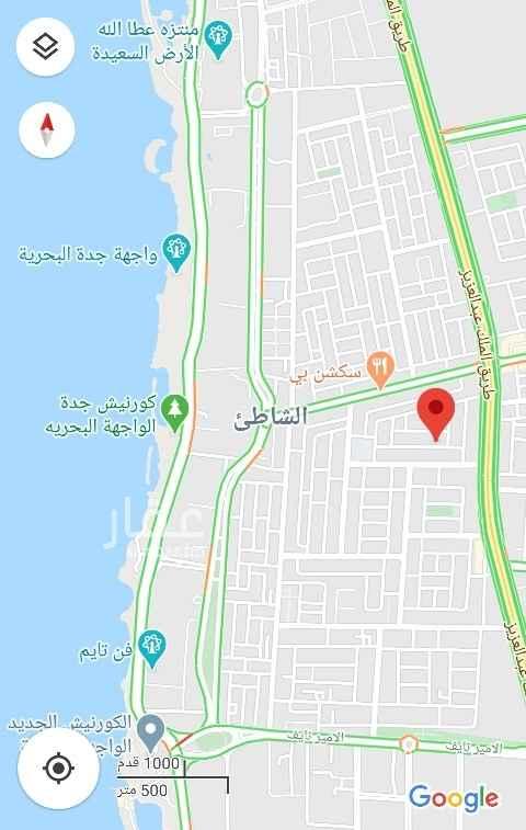 أرض للبيع في شارع عبدالعزيز بن عبدالملك ، حي الشاطئ ، جدة ، جدة