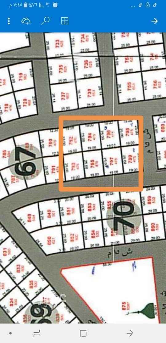 أرض للبيع في حي الشاطيء ، جازان ، جزان