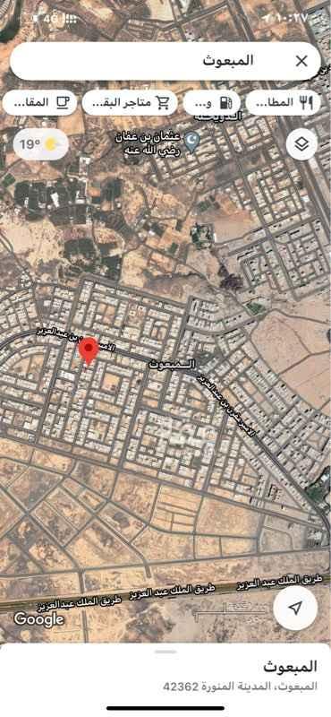 أرض للبيع في شارع ابن الجنيد الجر جانى ، حي المبعوث ، المدينة المنورة ، المدينة المنورة
