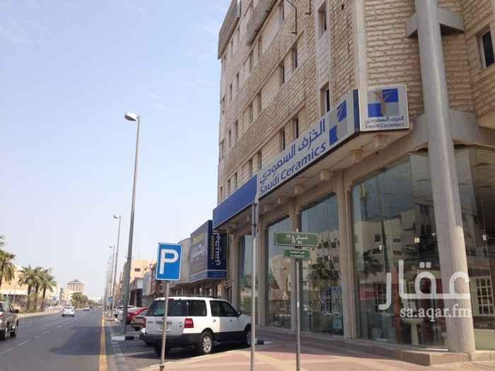 مكتب تجاري للإيجار في شارع الملك عبد العزيز ، حي العمامرة ، الدمام