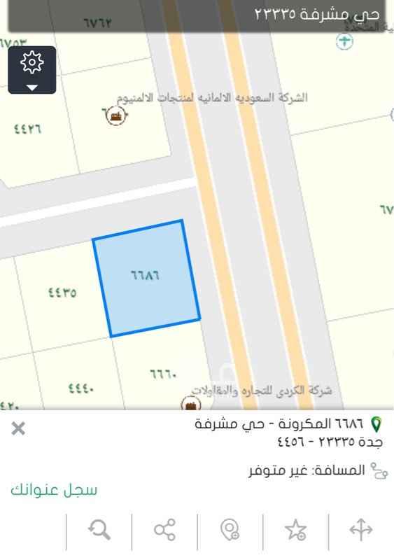 أرض للإيجار في شارع المكرونة ، حي مشرفة ، جدة ، جدة
